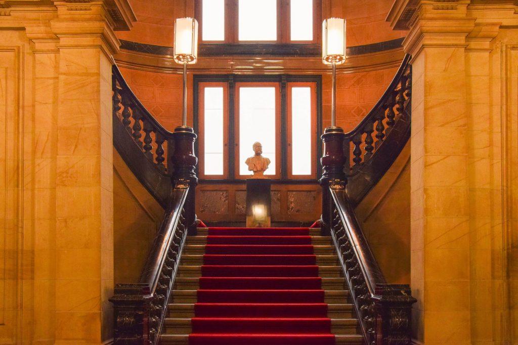 Großes Treppenhaus Detailansicht